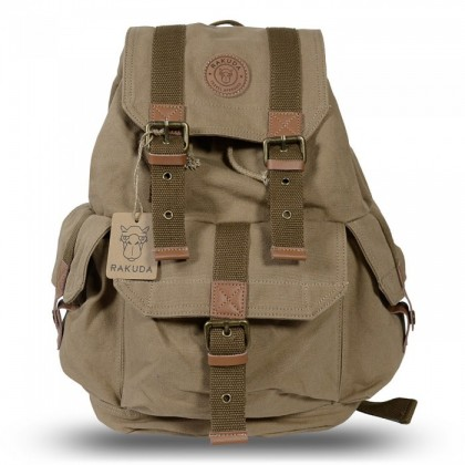 Rakuda Tourist Vintage Camera Backpack - Khaki