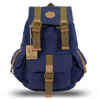 Rakuda Tourist Vintage Camera Backpack - Navy