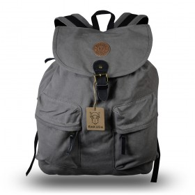 Rakuda Santorini Canvas Rough Backpack Washed Leather Gray