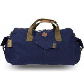Rakuda Duffle Rucksack Travel Bag Canvas Washed Leather 19x12x6 Navy
